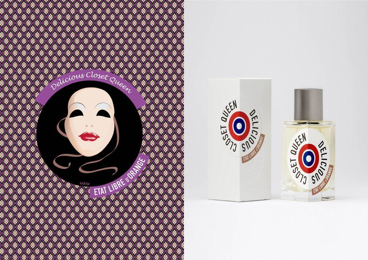 Le parfum Delicious Closet Queen, État Libre D'Orange, illustration IchetKar