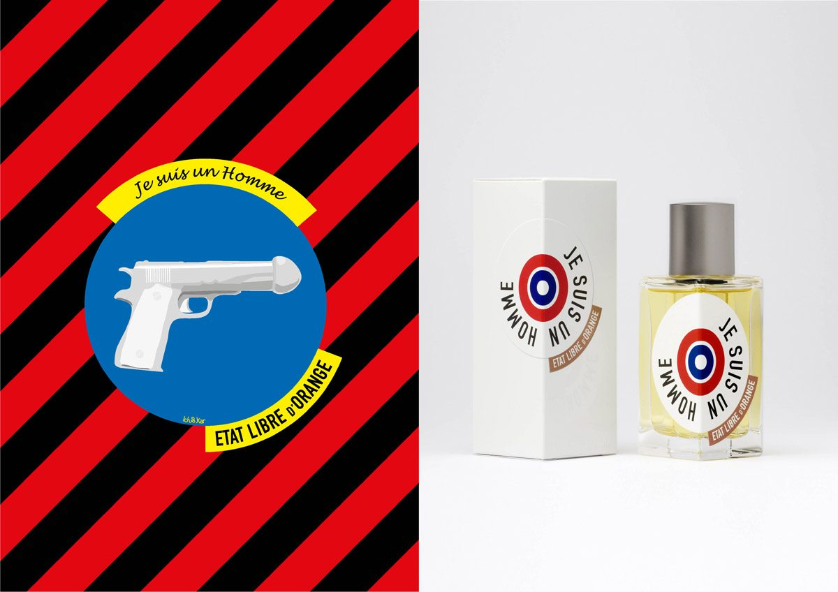 Le parfum Je suis un homme, État Libre d'Orange, illustration IchetKar
