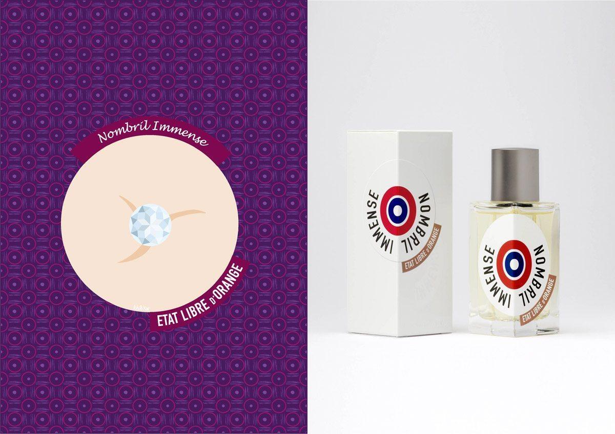 Le parfum Nombril Immense, État Libre d'Orange, illustration Ich&Kar