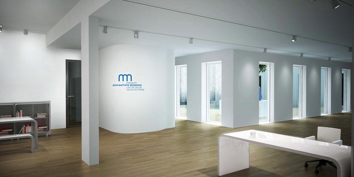 L'intérieur du projet de la galerie Milk Factory, scenographisme IchetKar et Clemence Farrell