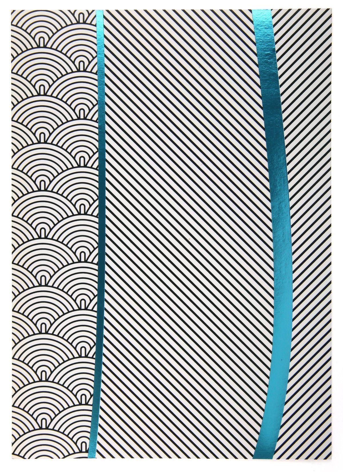 Carton d'invitation pour les lampes Moaïs de Ionna Vautrin pour la ToolsGalerie, dorure à chaud, design ichetkar