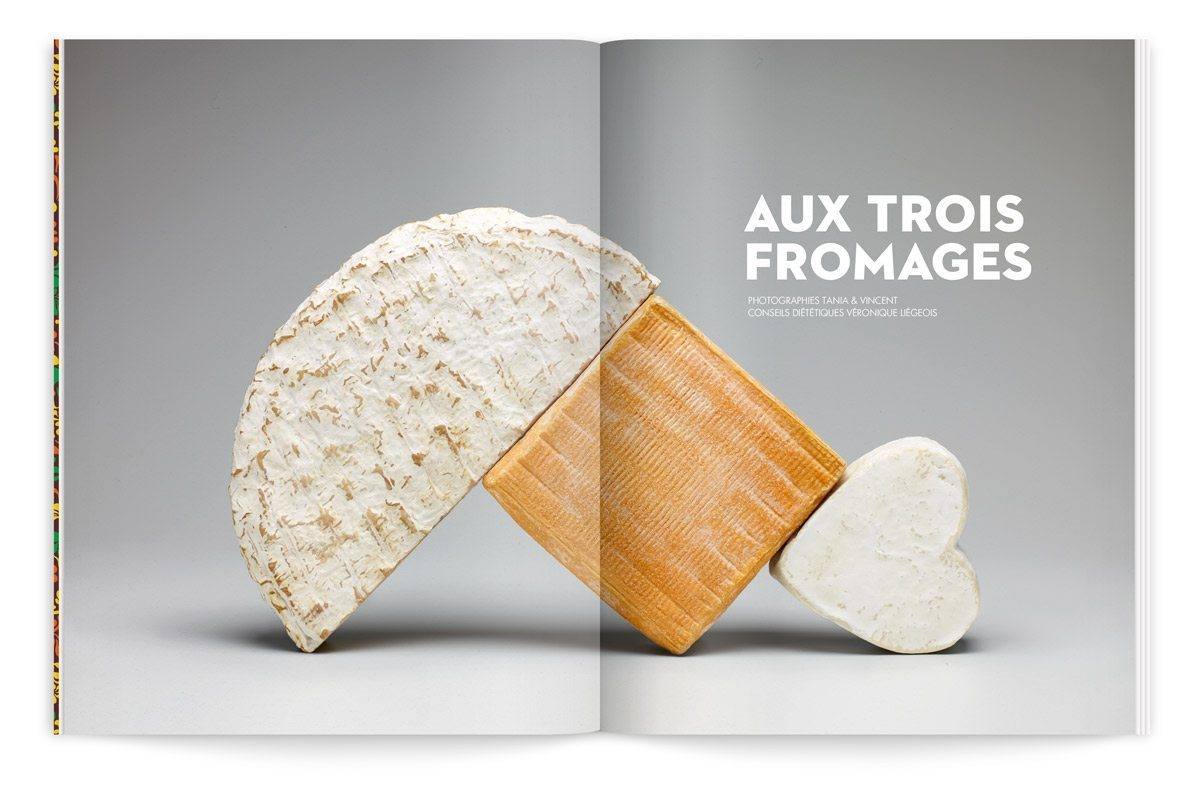 bloc-notes composition de fromages maroilles brie neufchâtel photo tania et vincent