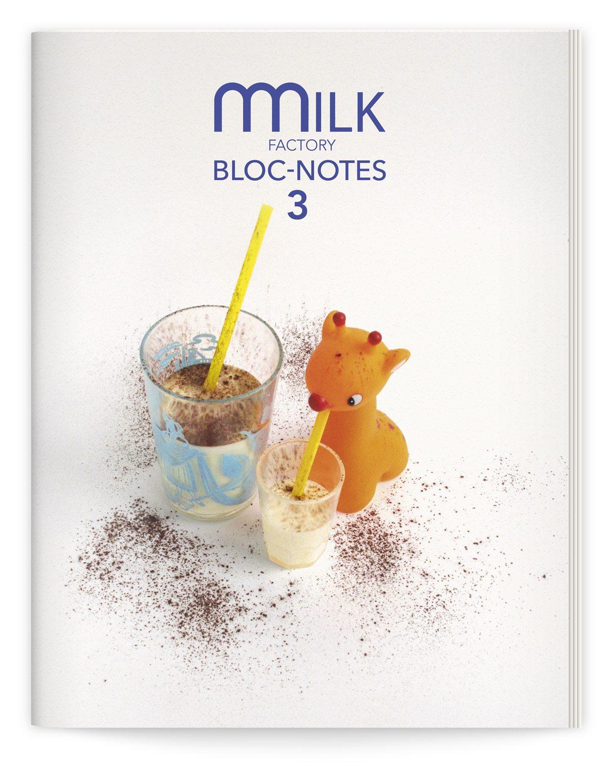 bloc-notes 3 milk factory couverture photo martine camillieri