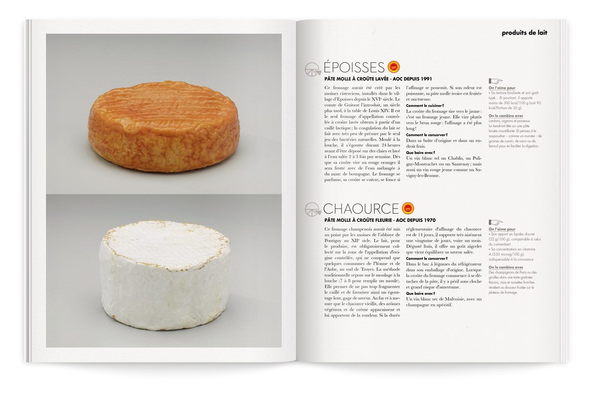 bloc-notes composition de fromages langres et chaource photo tania et vincent