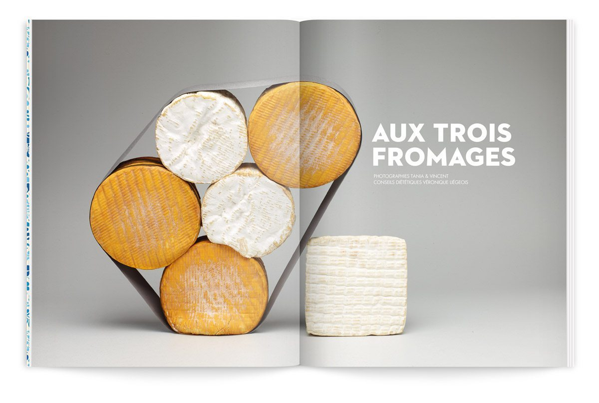 bloc-notes composition de fromages livarot, camembert et pont leveque photo tania et vincent