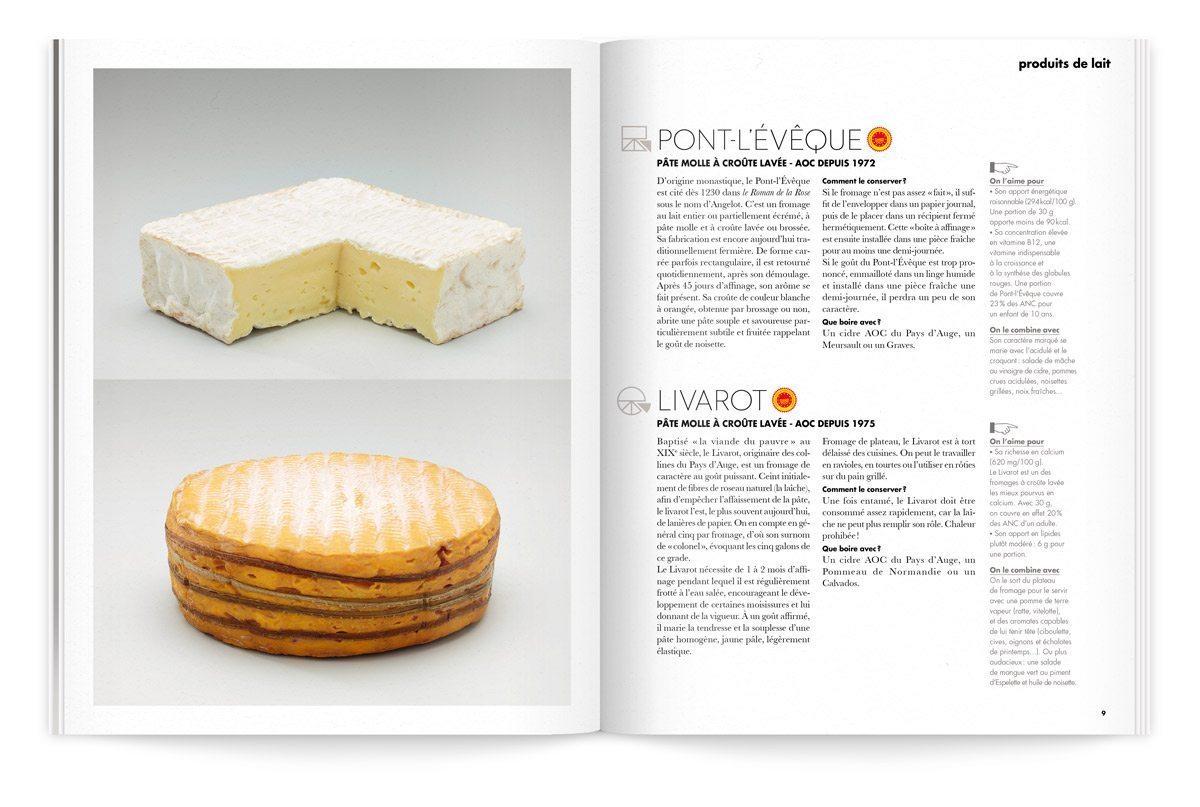 bloc note 1 le lait aux 3 fromages pont l'évêque et livarot photo tania et vincent