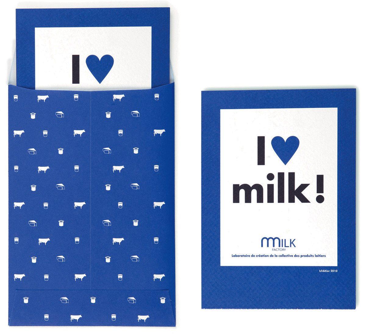 milk kit boites et badges pictogrammes vache pour la milk factory