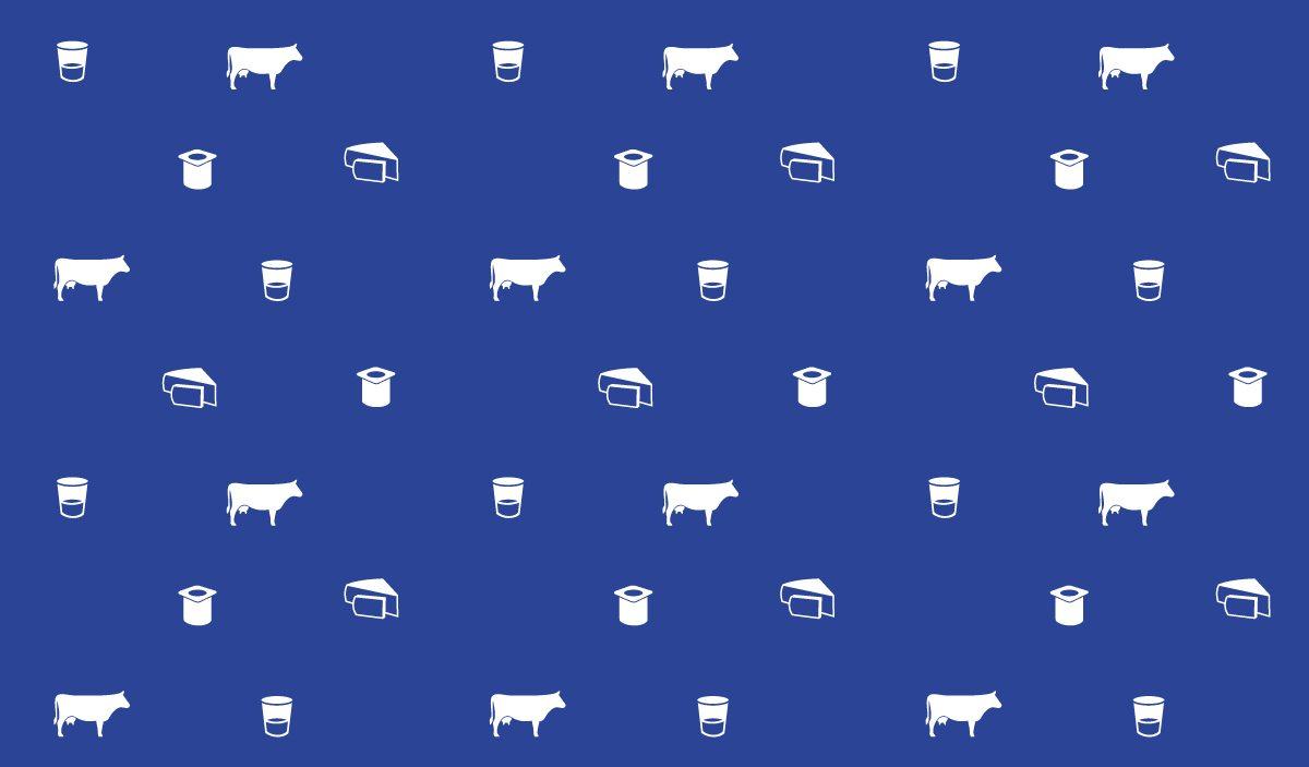 milk kit motif pictogram vache