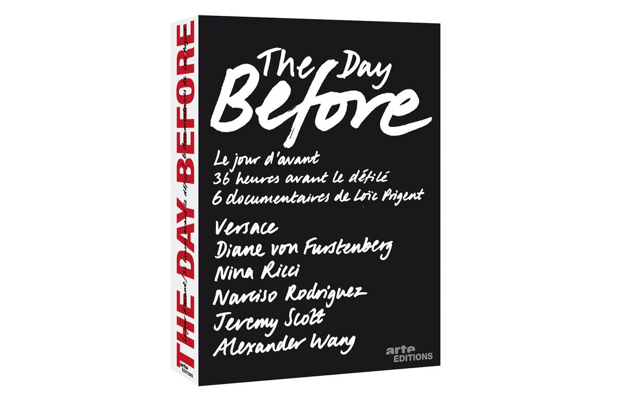Le coffret Arte The day before 2, avec Versace, Diane von Furstenberg, Nina Ricci, Narciso Rodriguez, Jeremy Scott et Alexander Wang, design et typographie IchetKar