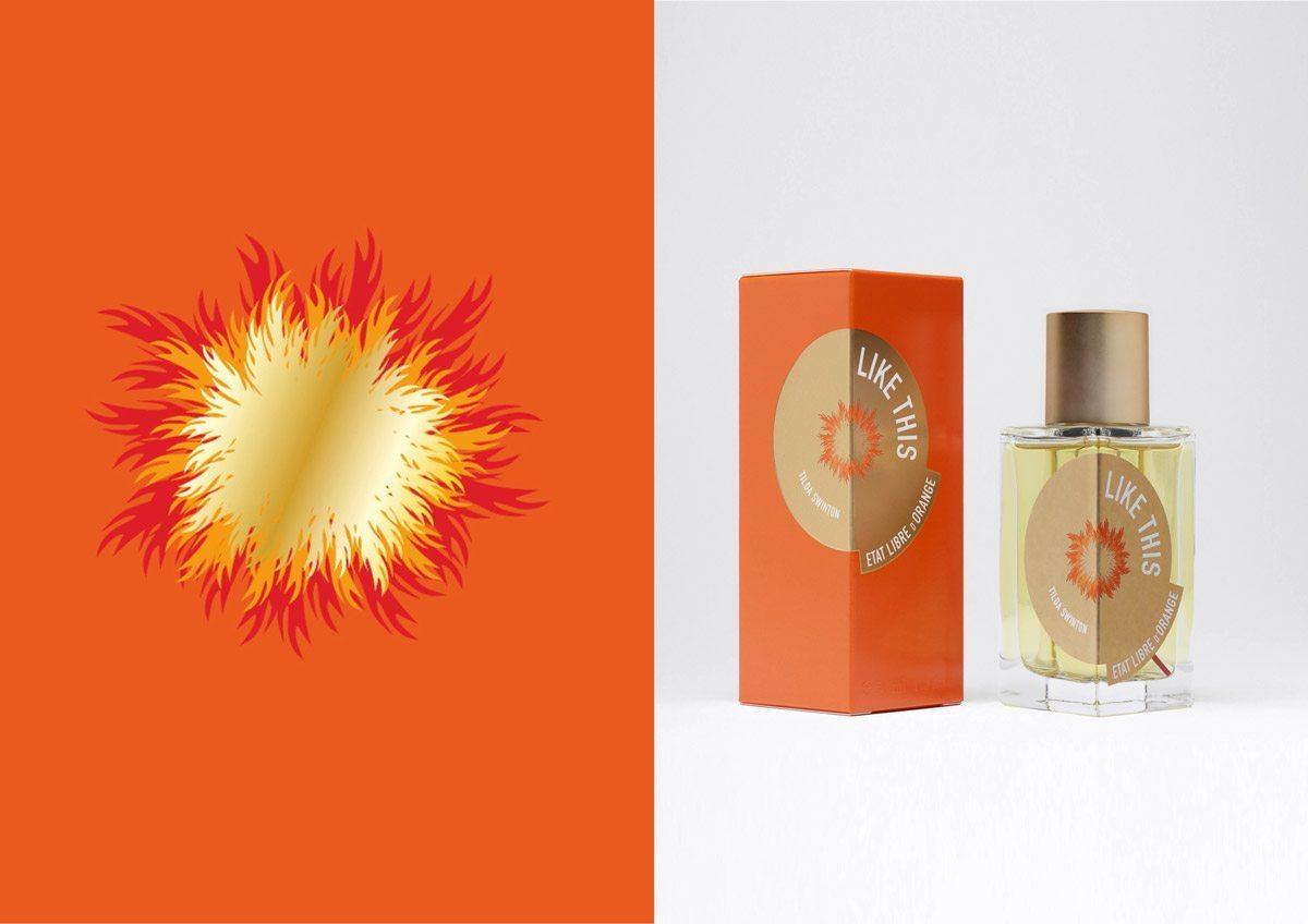 État Libre d'Orange et Tilda Swinton, un parfum chaud dans un packaging luxueux IchetKar