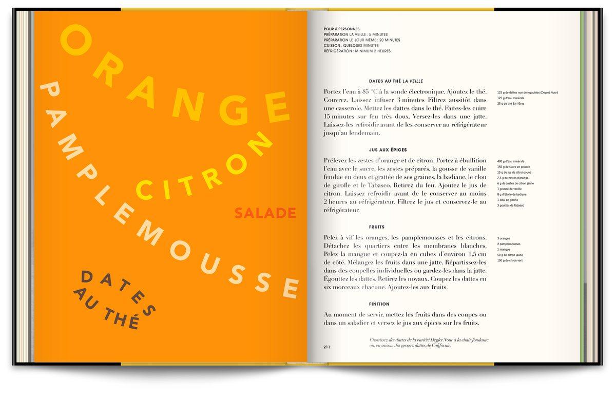 Le livre Infiniment de Pierre Hermé, typographie expressive orange et citron, design IchetKar