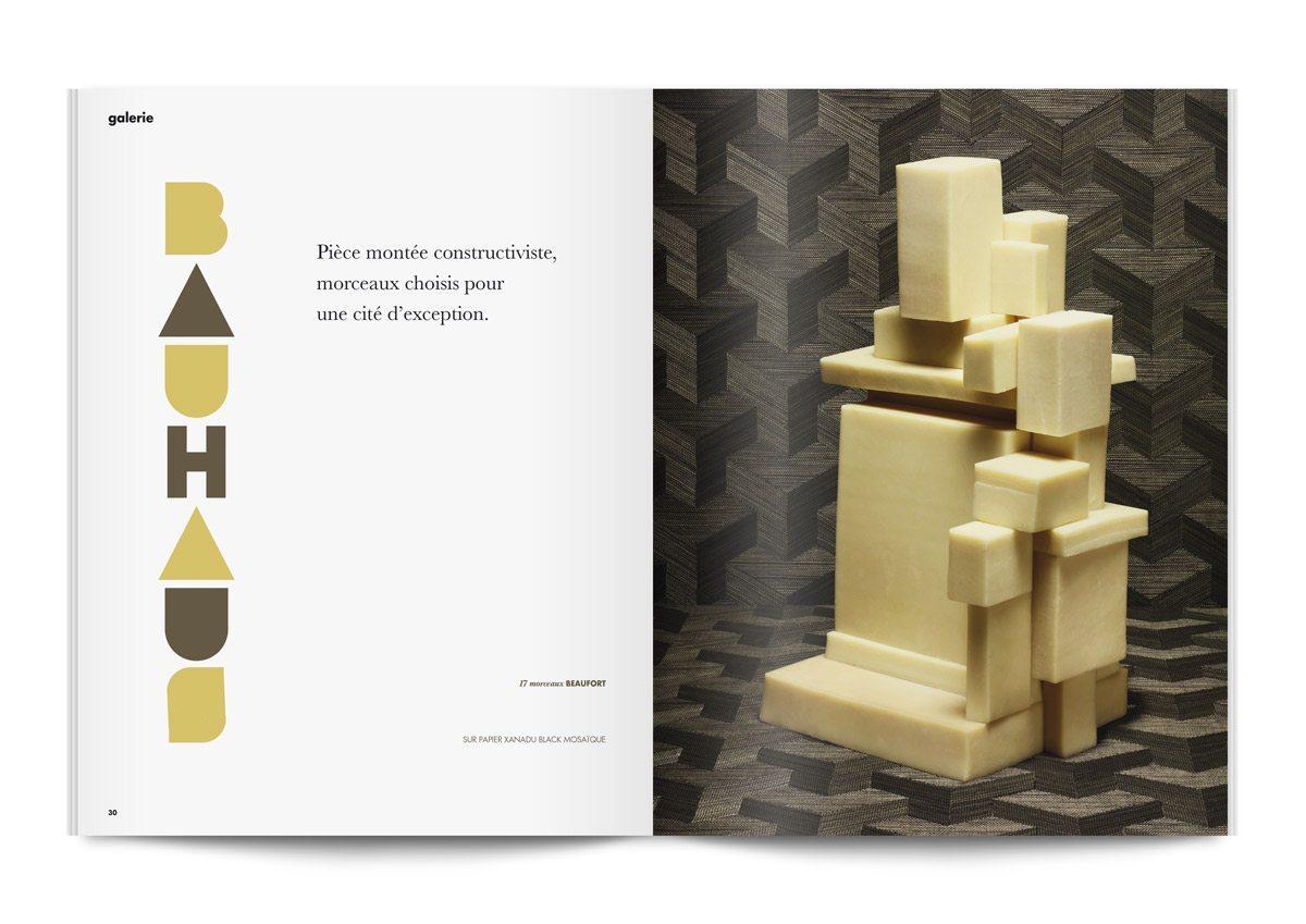 bloc note 4 pièces montées de fromages beaufort constructivistes photo jean jacques pallot direction artistique ichetkar bauhaus