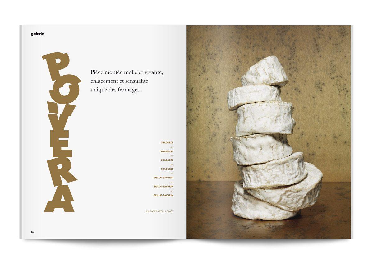 bloc note 4 pièces montées de fromages pâte molle à croute fleurie photo jean jacques pallot direction artistique ichetkar povera