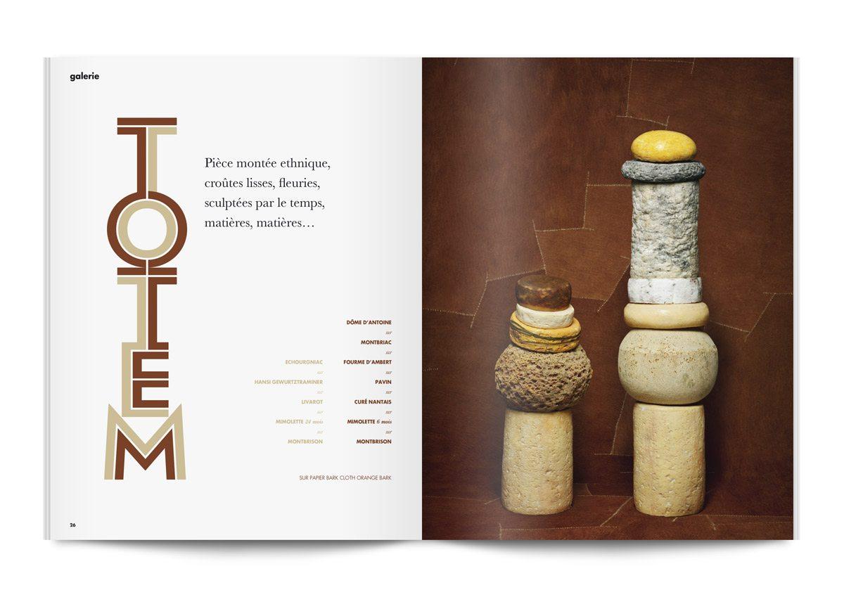 bloc note 4 pièces montées totem de fromages photo jean jacques pallot direction artistique ichetkar ichetkar