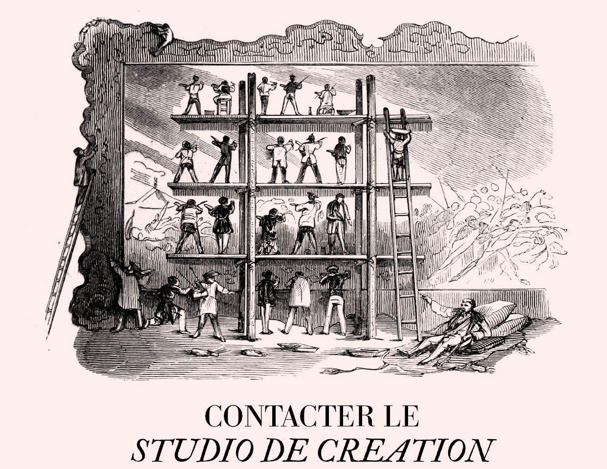 Contact studio de création +33 1 48 70 36 70