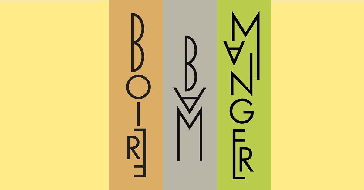 logo cartes et menus art déco 1930