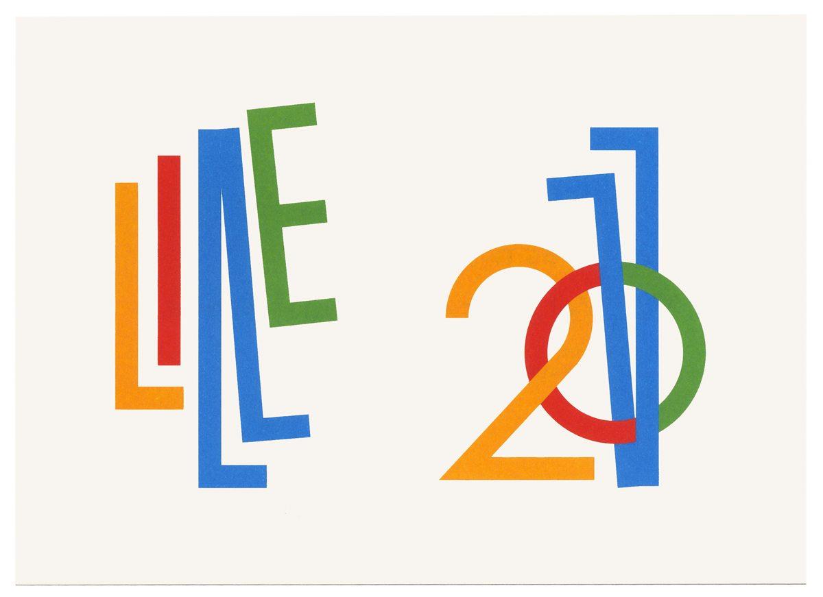ecv Lille carte de vœux 2011 recto composition typographique IchetKar