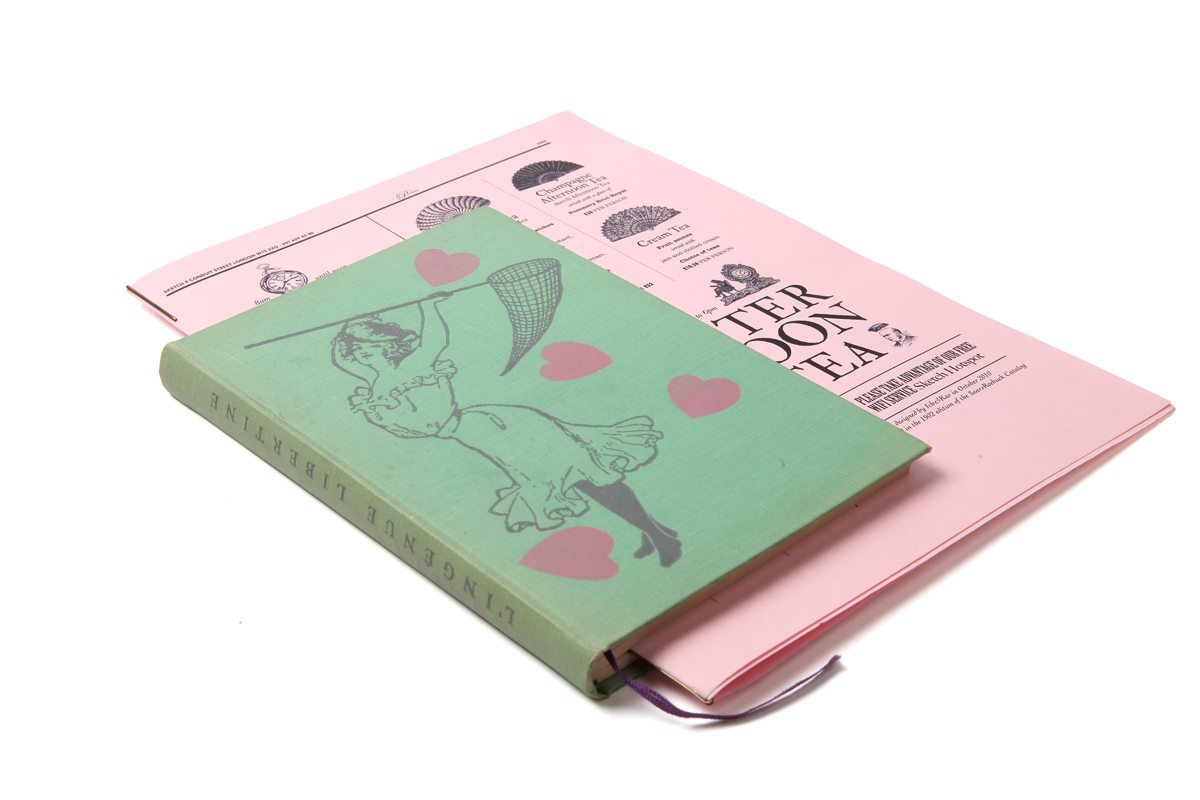 sketch menu parlour rose ichetkar surrealiste livre
