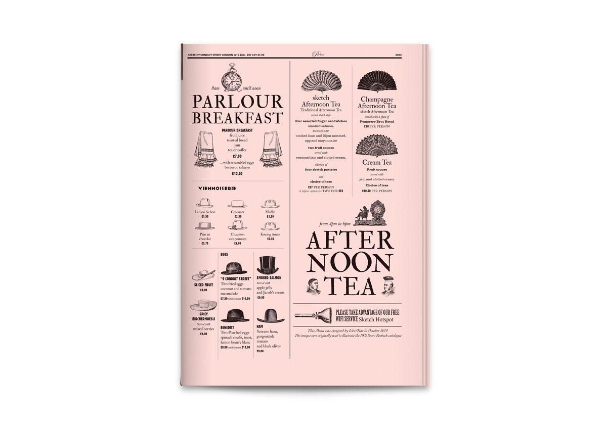 sketch menu parlour couverture ichetkar surrealiste