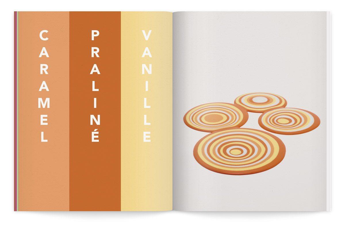 bloc-notes 6 yaourt composition cinétique colorée photo fred lebain recettes brigitte amour praline vanille caramel