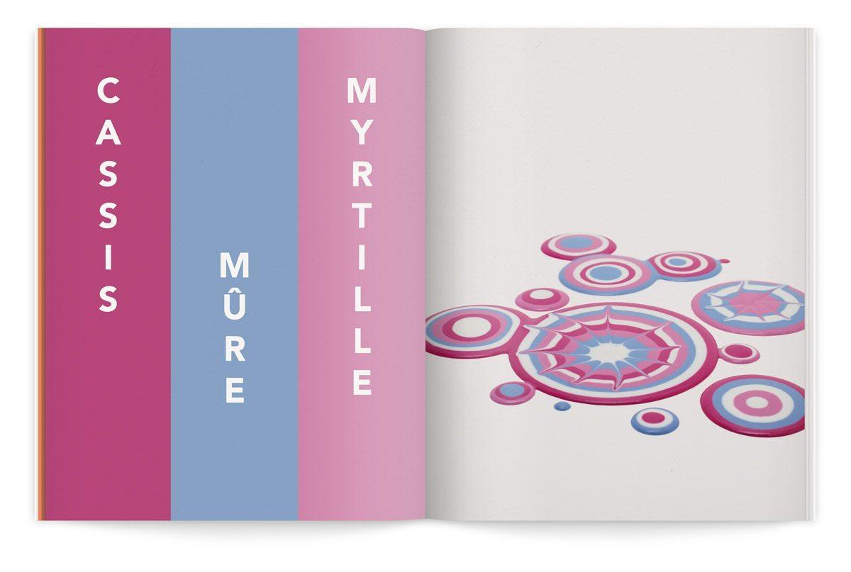 bloc-notes 6 yaourt composition cinétique colorée photo fred lebain recettes brigitte amour mure myrtille cassis