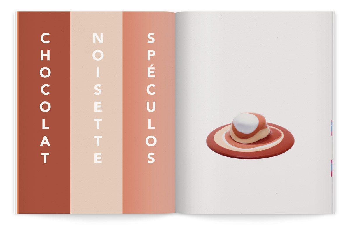 bloc-notes 6 yaourt composition cinétique colorée photo fred lebain recettes brigitte amour chocolat noisette spéculos