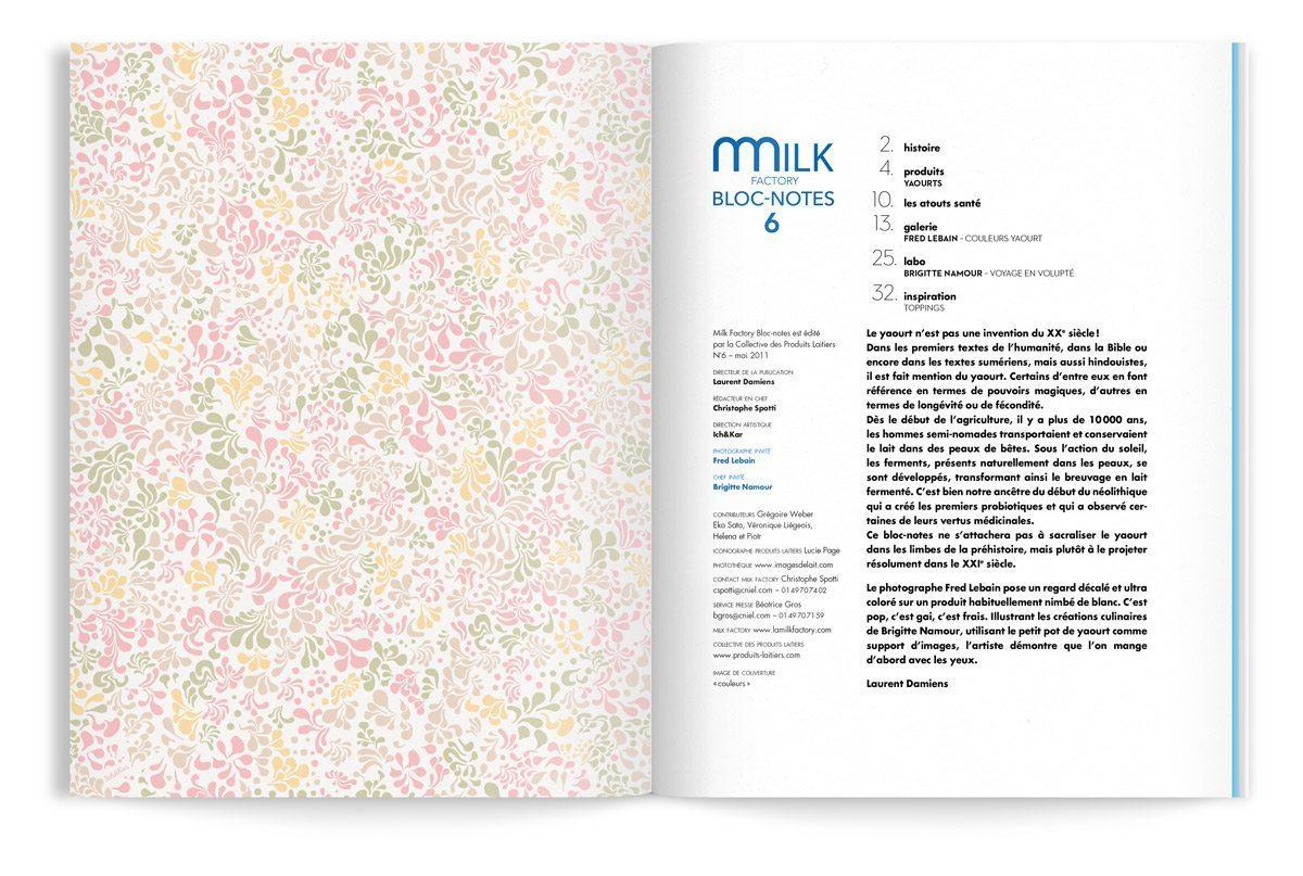 bloc-notes 6 yaourt intérieur gardes motif floral ichetkar