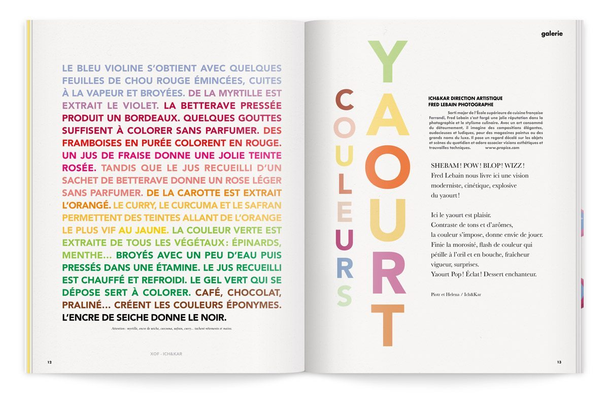bloc notes 6 yaourt typographie colorée couleurs yaourt ichetkar
