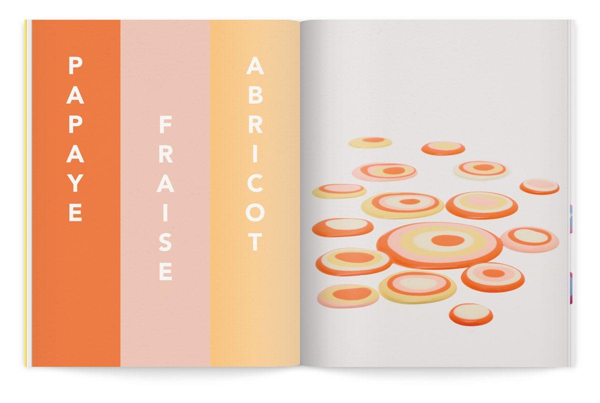 bloc-notes 6 yaourt composition cinétique colorée photo fred lebain recettes brigitte amour papaye fraise abricot
