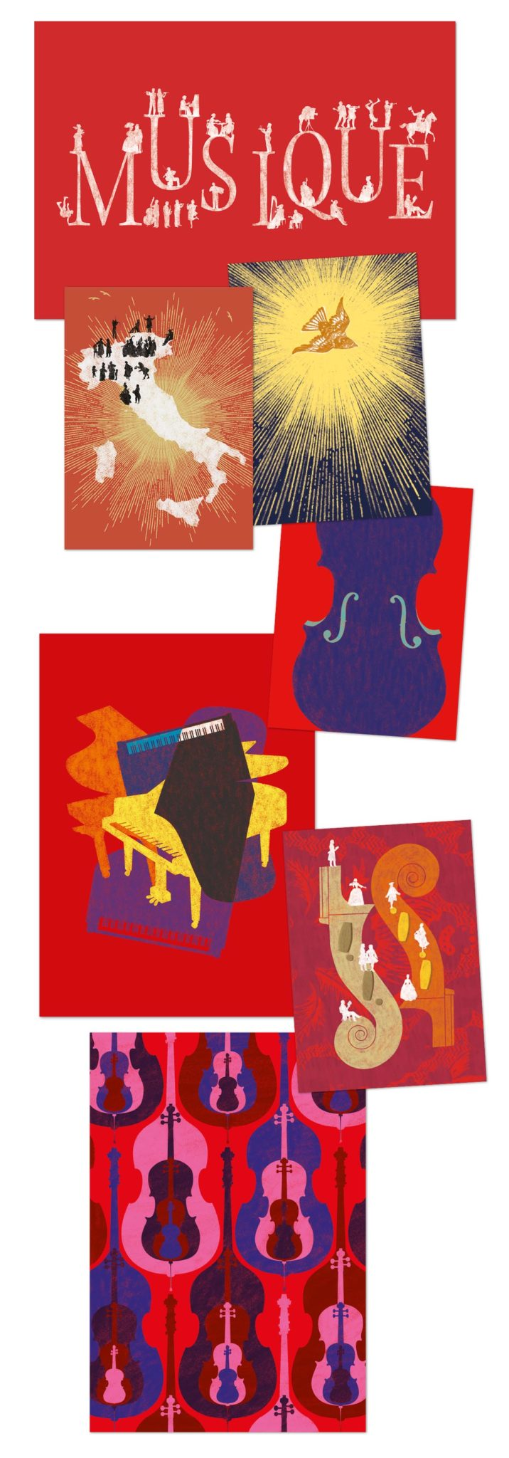les théâtres saison 2013 illustrations craie musique