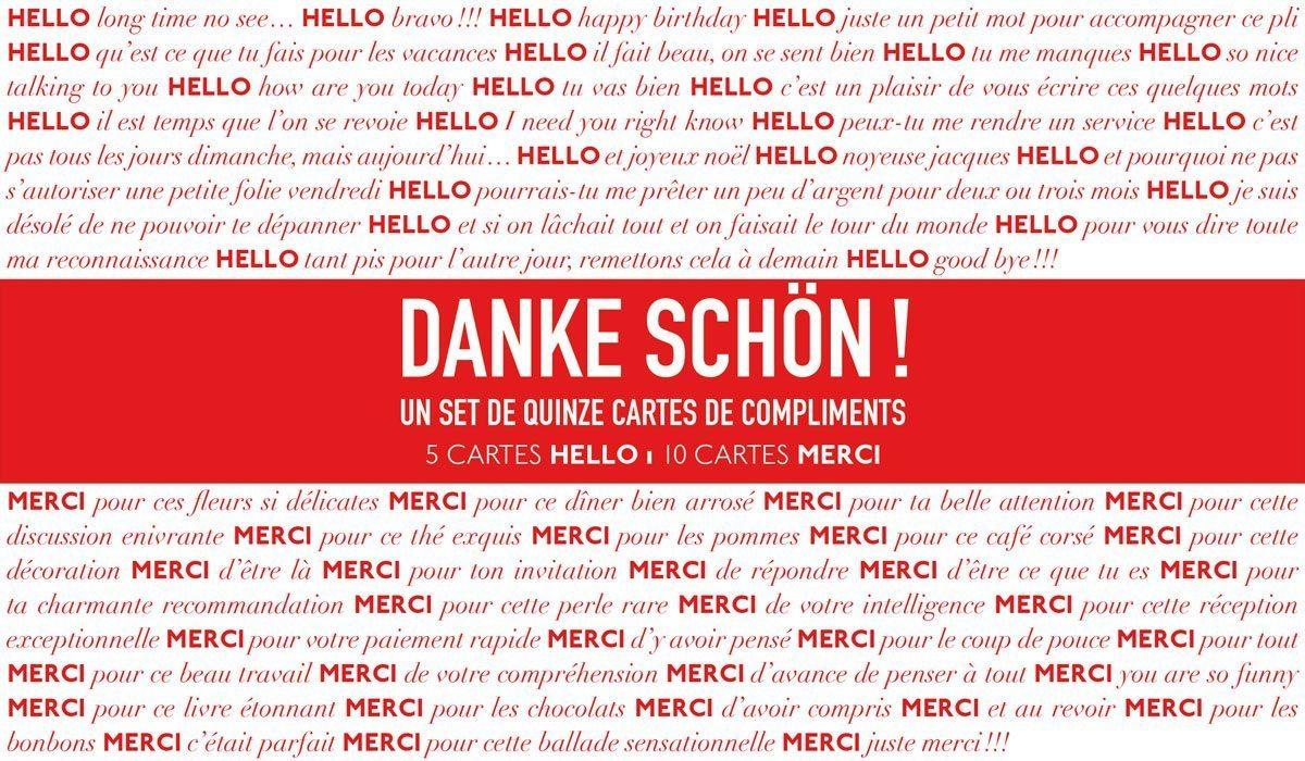 Cartes compliments Danke schön… Cartes de différents formats aux motifs Pokerface Cœur Carreau Trèfle et Pique, blanches et dorées. Créations Ich&Kar.