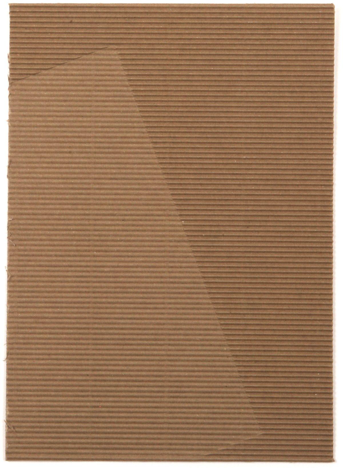 Carton d'invitation de l'exposition Relief(s) de Guillaume Delvigne à la Tools galerie. Un carton d'invitation crée par Ich et Kar. Un carton en carton, ondulé qui rend hommage au titre de l'exposition.