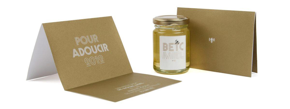 Le miel de l'agence de publicité BETC est envoyé chaque année à ses amis, design IchetKar