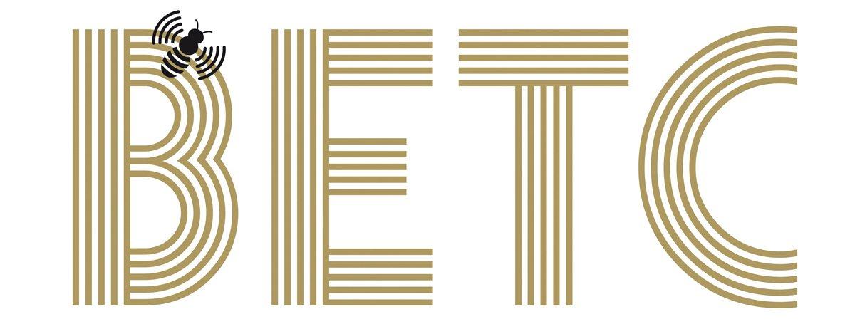 L'identité de l'agence de publicité BETC, deux couleurs or et noir, une typographie vivante et une abeille libre comme l'air, design IchetKar