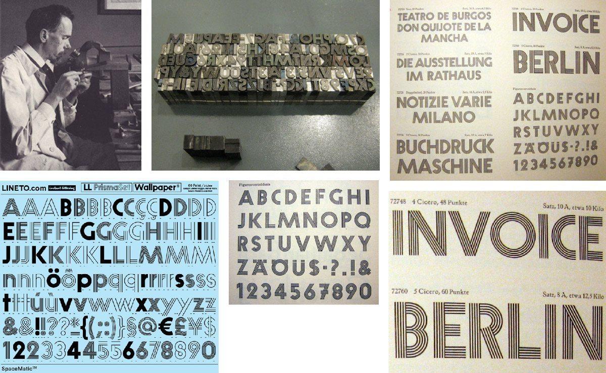 Histoire typographique autour de la Prisma choisis par IchetKar pour l'identité de BETC