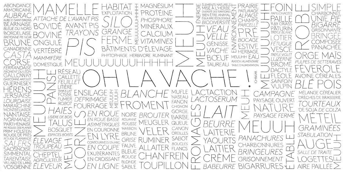 installation mots de la vache mur de mot d'ich&kar
