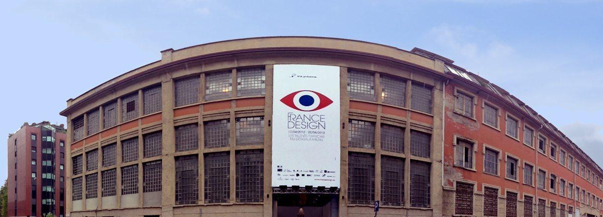 "Salon France Design Padiglione Visconti, zona Tortona, haut lieu ""Off"" signalétique signée Ich&Kar"