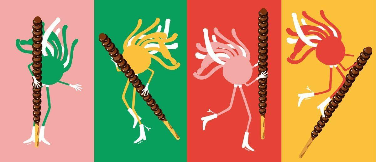 Ich&Kar dessine le coffret collector «Mikado King Choco» avec l'iconique personnage Mister Spaghetti, édition éphémère en exclusivité chez colette