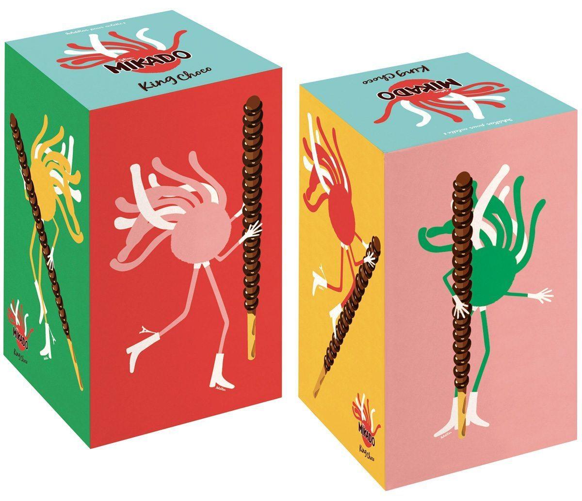 Le coffret collector «Mikado King Choco», édition éphémère en exclusivité chez colette avec l'iconique personnage dessiné par Ich&Kar, Mister Spaghetti