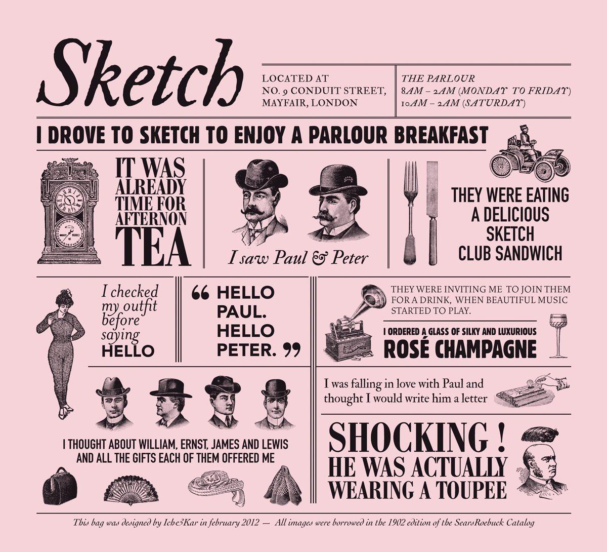 , it's time for an afternoon tea restaurant Sketch à Londres, design Ich&Kar