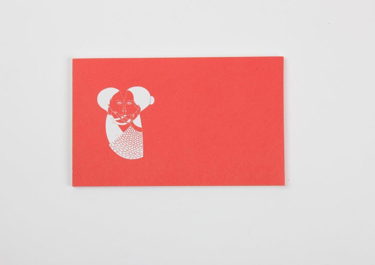 Livre-objet rouge de Fred Le Chevalier. Design graphique par Ich&Kar. Editions Echos.