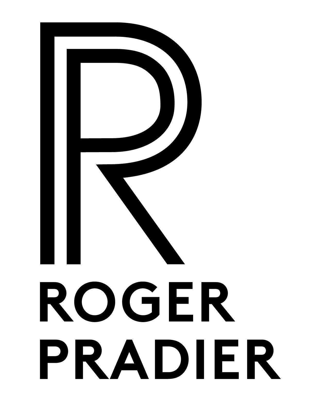 Logo Roger Pradier, fabricant de luminaire d'extérieur depuis plus de 100 ans, dessiné par Ich&Kar