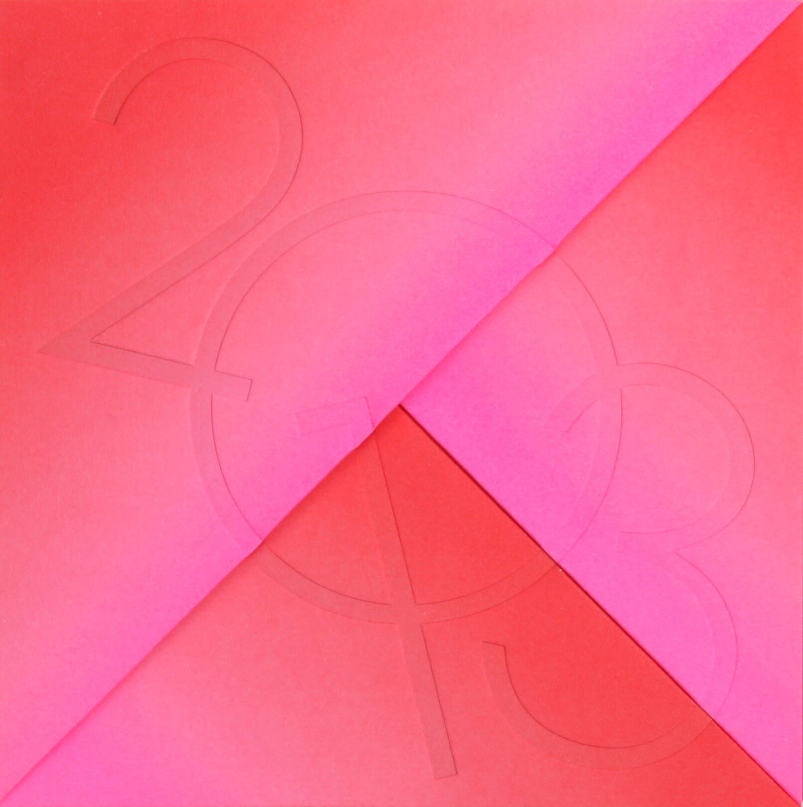 IchetKar signe les vœux 2013 des arts Décoratifs en origami, gaufrage, pliage, rose rouge pour une année colorée