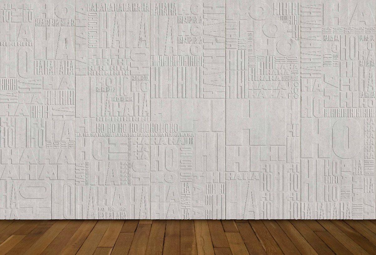 Ich&Kar dessine le Mur des Jubilation, un projet en béton réalisé par Concrete LCDA, un bas-relief, écho d'une multitude de rires: rire gras, rire fin, rire soutenu, rire aux éclats…