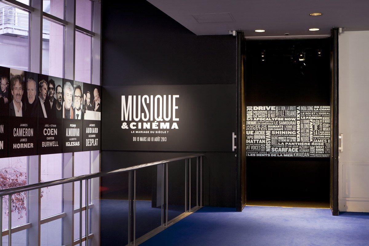 musique et cinéma exposition à la cité de la musique scénographisme exposition