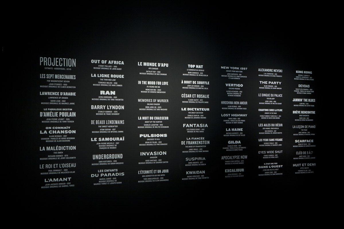 musique et cinéma exposition à la cité de la musique scénographie générique