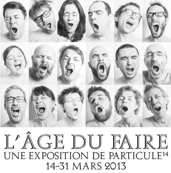 Visuel de l'exposition l'Age de Faire, à la biennale de Design de St Etienne.