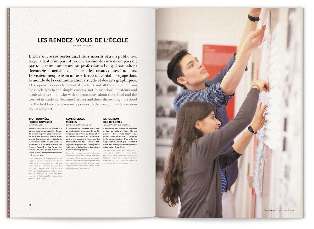 Les pages des rendez-vous de l'école, portes ouvertes, conference, workshop… à l'ECV
