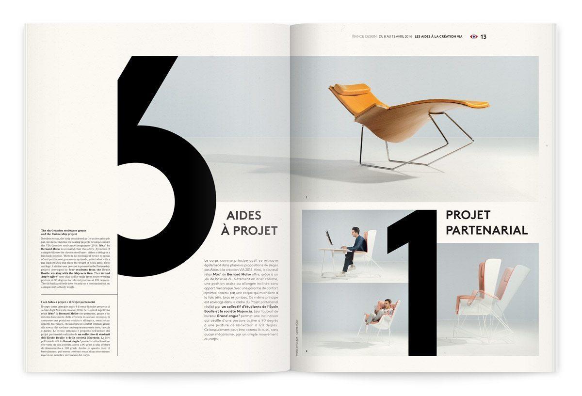 Catalogue France Design 2014 à Milan, 6 aides à projet et un projet partenarial, design Ich&Kar