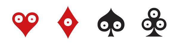 Pokerface Cœur Carreau Trèfle et Pique, le motif iconique du duo Ich&Kar